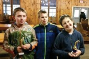 Cub Scouts from Pack 102 in Naugatuck participated in the Mattatuck Fishing Derby on May 7. Pictured, from left, Dylan Hornby, who placed first with the biggest Sunny (10 inches), Parker Rosado, and Daniel Himes who placed first with the biggest Large Mouth Bass (18 inches). -CONTRIBUTED