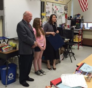 "Cross Street Intermediate School student Belle Jason was recently honored for being among the winners of the 2nd annual Women's History Month Essay Contest. All Naugatuck sixth-grade students were invited to participate in writing a 300-word essay on ""How a Connecticut Woman Made a Contribution to the State and/or Nation and How it Affects Me."" -CONTRIBUTED"