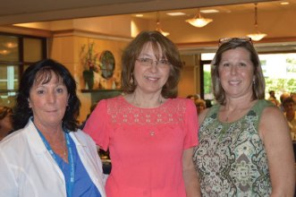 Naugatuck resident Lisa Hyland, a RN at Griffin Hospital in Derby, center, was honored recently during the hospital's 30th Annual Nurse Day Celebration with The Richard Stivala, M.D., Obstetric Nursing Excellence Award. She was presented the award by Griffin Hospital Childbirth Center Director Margaret Fischer, left, and Mary Stivala. –CONTRIBUTED