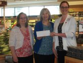 Big Y in Naugatuck recently donated $2,500 to Literacy Volunteers of Greater Waterbury. The money was raised through Big Y's Paul and Gerald D'Amour Memorial Charity Golf Outing. Pictured, from left, LVGW Program Director Vanessa Vowe, LVGW Executive Director Tina Agati, and Big Y Store Director Veronica DeMarest. –CONTRIBUTED