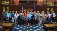 Senior citizens from Prospect recently visited the state Capitol where they met with state Rep. Lezlye Zupkus, R-Prospect. Zupkus discussed her role as a state legislator and answered questions from the group. –CONTRIBUTED