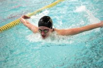 Woodland's Julie Hinckley competes in 200 IM Feb. 1 versus Watertown in Beacon Falls. Watertown won the meet, 94-82. –ELIO GUGLIOTTI