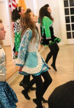 Dancers from the Horgan Academy of Irish Dance in Naugatuck perform during Naugatuck's annual Irish Mayor for the Day ceremony on March 17 at St. Francis Church hall. –LUKE MARSHALL