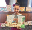 Maple Hill School fourth-grader Mariah Hawley, of Naugatuck, was honored as the New Haven County poster contest winner at the 33rd annual Connecticut Fire Prevention Poster Recognition Program Awards Luncheon. –CONTRIBUTED