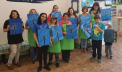 The Naugatuck YMCA celebrated Autism Awareness Month with activities throughout April. The activities included a paint party at BrushStrokes Paint Party in Naugatuck. The Autism Support Group, which is hosted by the YMCA, also made 500 autism awareness ribbons for Naugatuck public school teachers and administrative staff for the work they do with the children in the district. –CONTRIBUTED