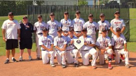 Prospect residents Matt Belcher, first from the left in the front row, and Kyle Simpson, third from the left in the back row, played on the Hit Club 14U AAU travel baseball team, which won the Backyard Baseball Classic 14U wood bat tournament in Cooperstown, N.Y. on July 9. The team went undefeated in the weekend tournament and defeated the Clinton County Mariners of Plattsburgh, N.Y., 7-4, in extra innings in the championship game. -LEEZA DESJARDINS