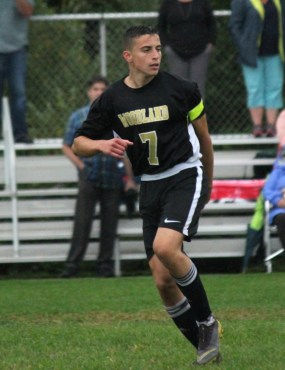 Devon Polletta and his identical twin brother Dante have been playing soccer together since they were very young. In their senior year at Woodland, the twins are two of the four captains for the Hawks. –ELIO GUGLIOTTI