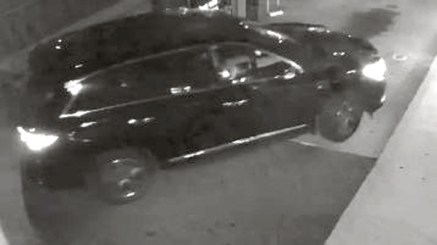 Naugatuck police released this surveillance photo of a dark-colored Infiniti SUV used by suspects in a burglary at the Sunoco gas station at 531 North Main St. Tuesday morning. -CONTRIBUTED