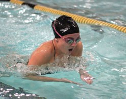 Woodland's Maura Beltrami does the breaststroke during the 200 individual medley against Seymour Oct. 27 at Woodland Regional High School in Beacon Falls. –ELIO GUGLIOTTI
