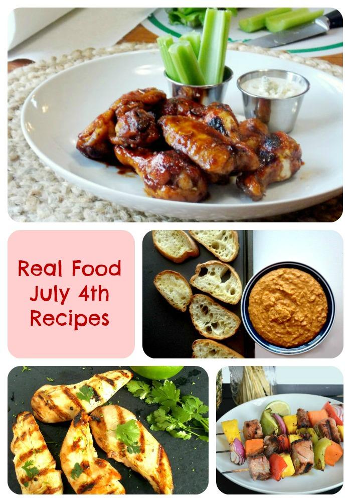 Perfect 4th of July Real Food Menu!!!!