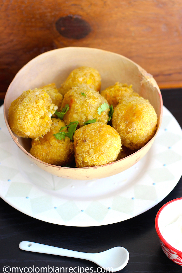 Juj 250 Green Plantain And Cheese Balls My Colombian Recipes
