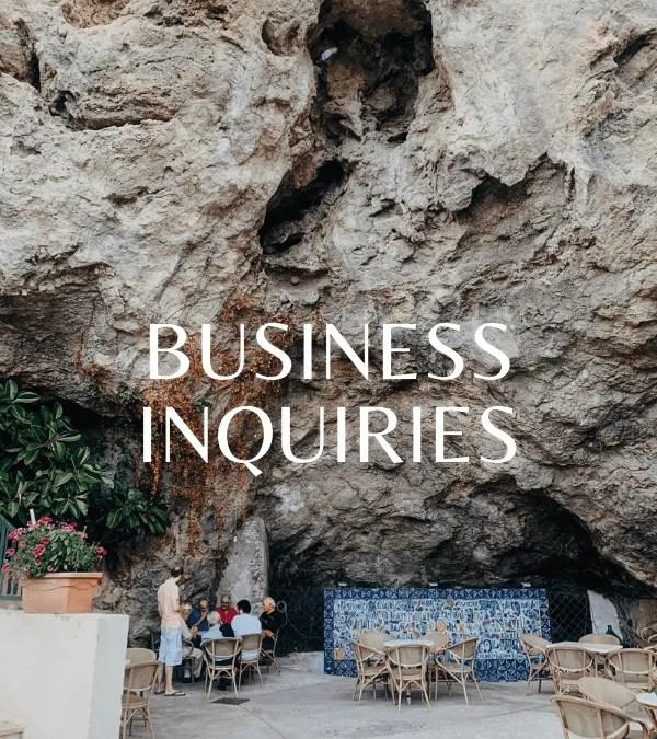 BUSINESS INQUIRIES