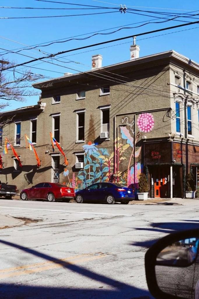 Red Tree Nulu Flowers Mural - Louisville Murals