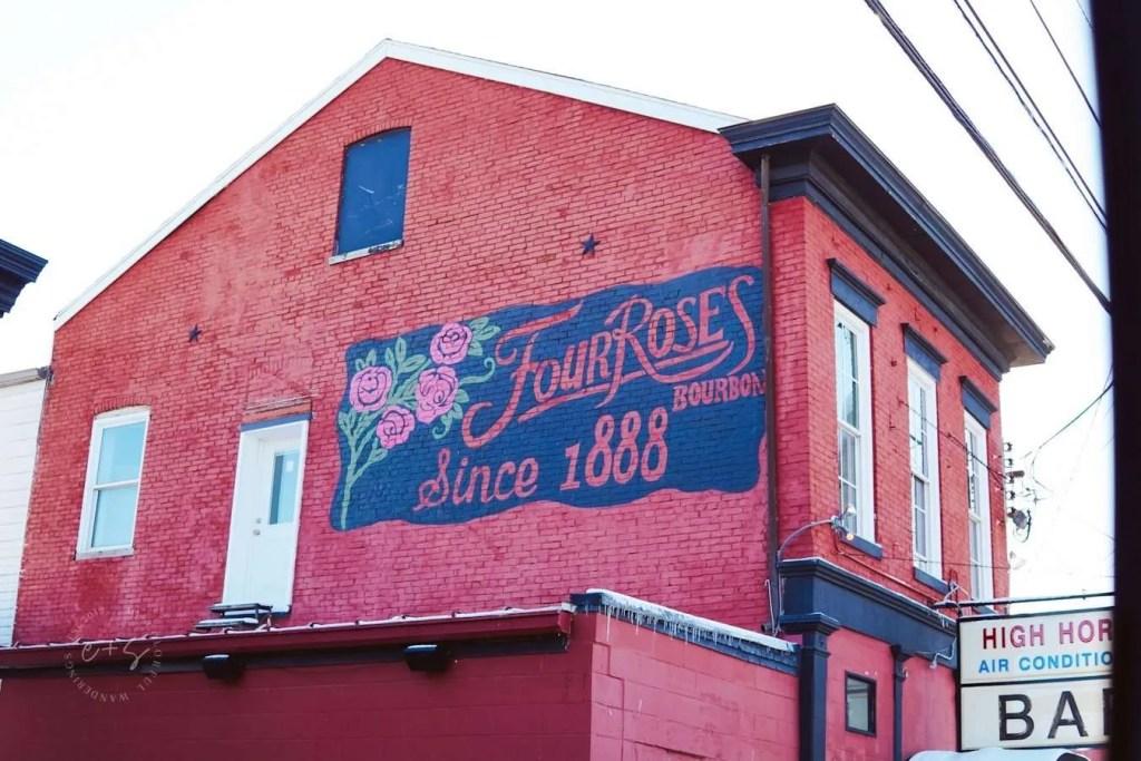 Four Roses Bourbon Mural - Louisville Murals