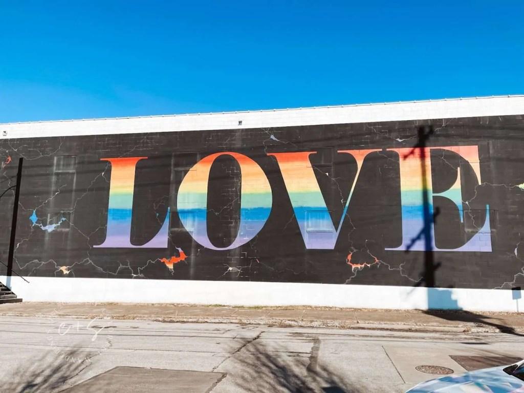 Love Rainbow Mural Louisville