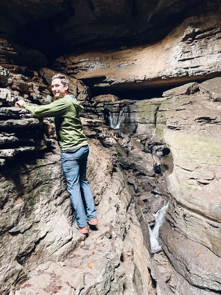 what to expect at Stephens Gap Cave Callahan Preserve, caves with waterfalls, waterfall in alabama, alabama waterfalls, caves in alabama