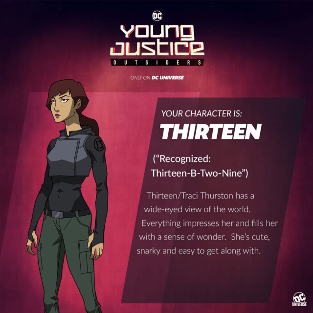 young justice outsiders thirteen traci thirteen new character