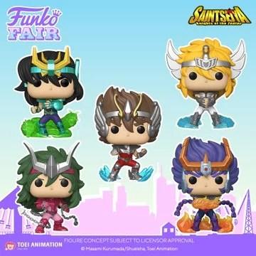 funko toy fair 2021 anime day 2 saint seiya pop pegasus seiya dragon shiryu andromeda shun cygnus hyoga phoenix ikki preorder