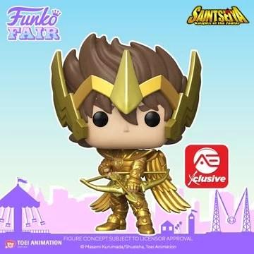 funko toy fair 2021 anime day 2 saint seiya exclusive pop sagittarius gold alliance entertainment preorder