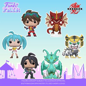funko toy fair 2021 anime day 2 bakugan pop dan drago skyress shun runo tigrerra preorder