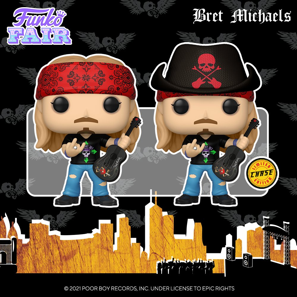funko fair day 9 toy fair 2021 dc comics and music bret michaels chance of skull hat chase pop