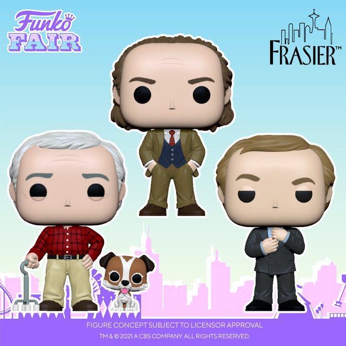 funko fair day 6 toy fair 2021 tv shows television frasier pop and buddy niles martin with eddie