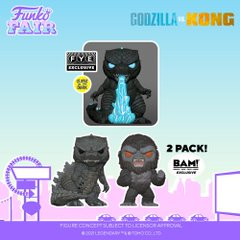 funko fair day 7 animation toy fair 2021 godzilla vs versus kong king glow in the dark heat ray 2 pack pop fye bam book a million exclusive