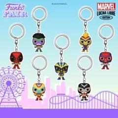 funko fair day 4 2021 marvel lucha libre pocket pop keychain