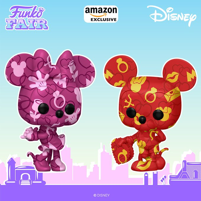 funko fair day 8 toy fair 2021 disney mickey and minnie mouse valentines 2 pack pop amazon exclusive artists art series
