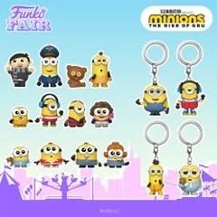 funko fair day 7 animation toy fair 2021 minions the rise of gru roller skating stu stuart pet rock otto pajama bob kung fu kevin mystery mini pocket pop keychain