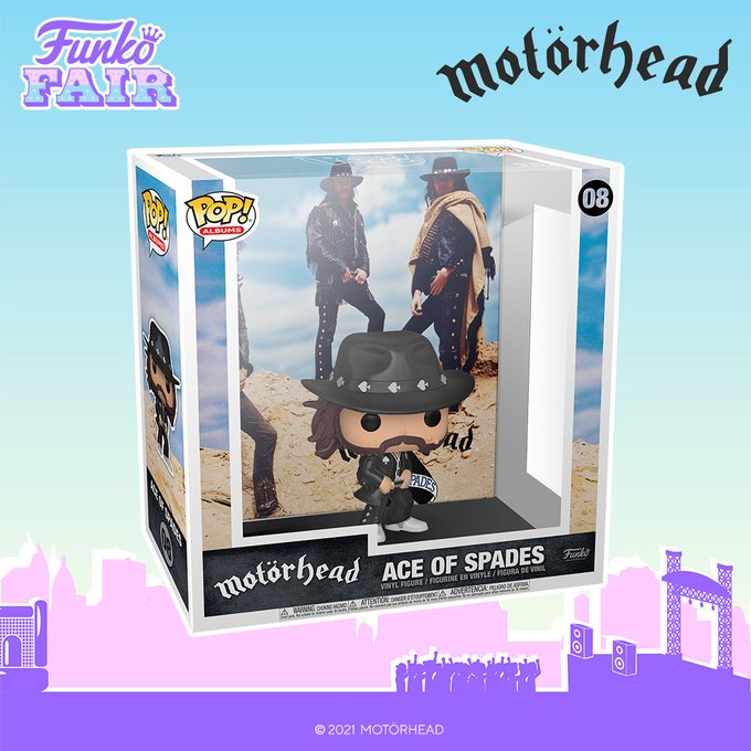funko fair day 9 toy fair 2021 dc comics and music motorhead pop album cover ace of spades