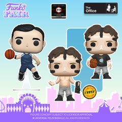 funko fair day 6 toy fair 2021 tv shows television the office pop michael scott dwight schrute basketball shirtless chase skins chalice collectibles exclusive