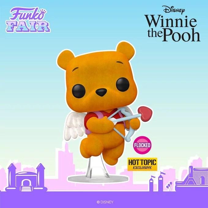 funko fair day 8 toy fair 2021 disney winnie the pooh valentines flocked hot topic exclusive pop
