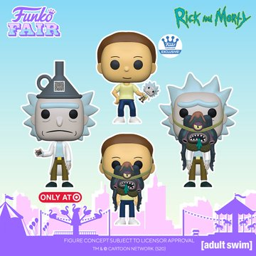 funko fair day 7 animation toy fair 2021 rick and morty with glorzo funnel hat shop target exclusive pop