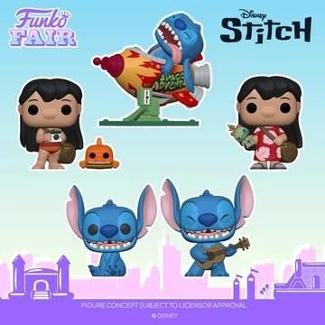 funko fair day 8 disney toy fair 2021 lilo & stitch pop rocket scrump ukelele seated smiling