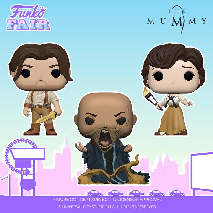 funko fair day 5 movies toy fair 2021 the mummy rick o'connell evelyn carnahan imhotep pop