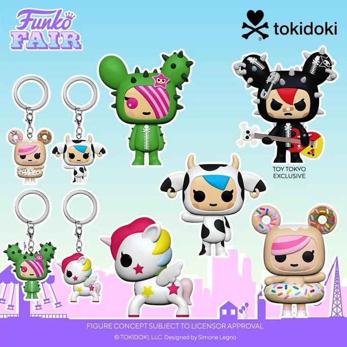 funko toy fair 2021 anime day 2 tokidoki exclusive pocket pop keychain sandy mozzarella donutella stellina cactus rocker toy tokyo preorder