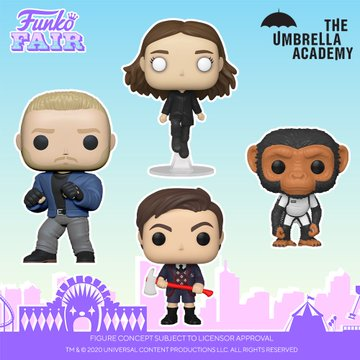 funko fair day 6 toy fair 2021 tv shows television the umbrella academy netflix number 5 five baby pogo vanya luther pop