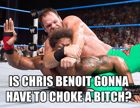 Benoit choke hold