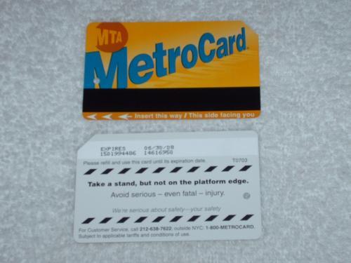 NYC Metro Card.