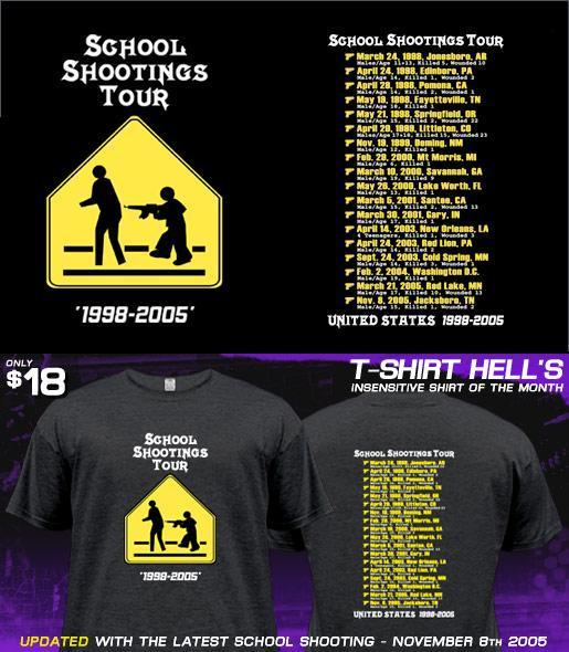 School Shooting tour t-shirt