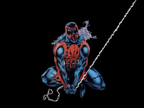 Spider-Man 2099 Swings a Web