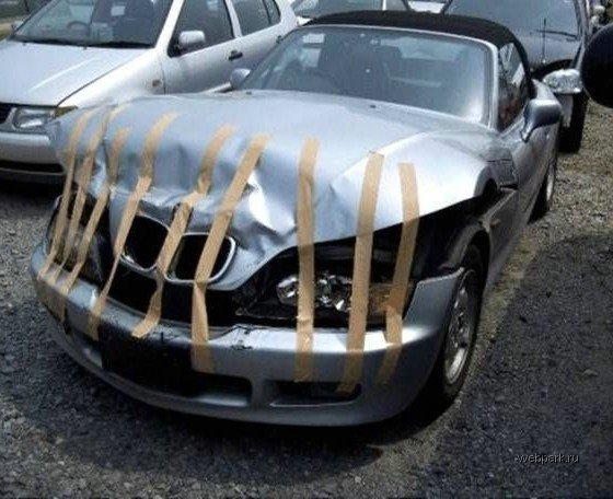 Duck Tape Car Fix