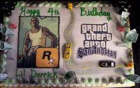 Grand theft auto Birthday Cake