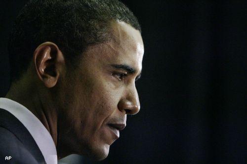Obama Looks Down