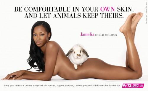 NSFW - jamelia PETA advert