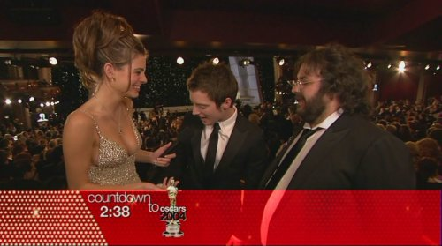 Peter Jackson and Elijah Wood Check out some tits