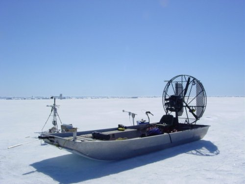 snow swamp boat