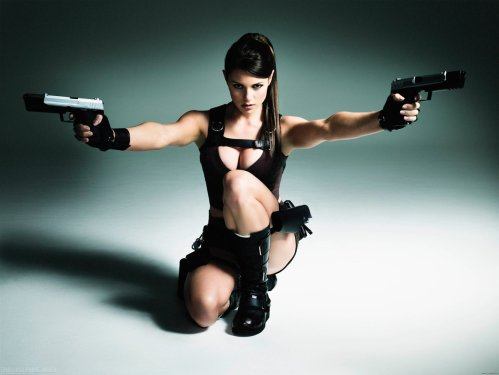 tomb raider model - split guns