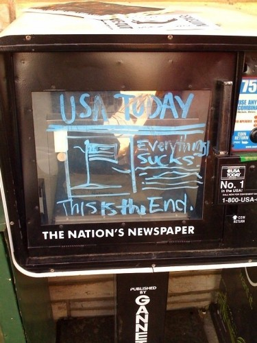 USA Today - Everything Sucks - this is the end